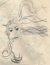 Aphrodite's tresses - an early drawing, circa 1956