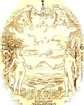 Tarot Arcanum 6 - the Lovers (Binah Tifareth path - Saturn/Sun