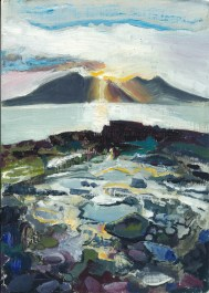 10 sunset on Rhum from Eigg