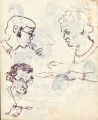 229 pestalozzi sketches - staff at lunch