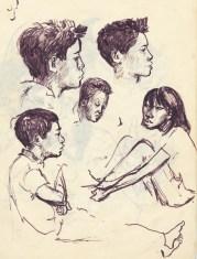 233 pestalozzi sketches - tibetans