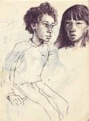 249 pestalozzi sketches - girls