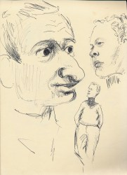 271 Pestalozzi sketches - Alain and Brian