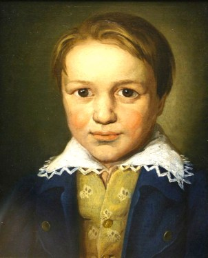 Beethoven age 13 by an unknown artist - discovered in 1972