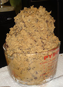 Picture of mounds of cookie dough