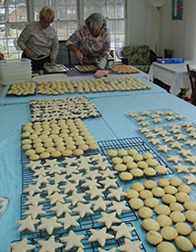 Picture of table with cookies