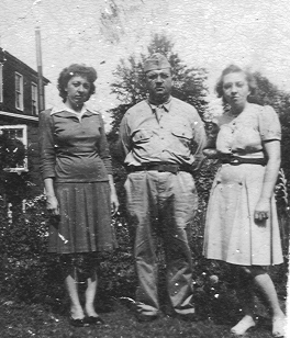 Sid, Carl and Greta when my dad was home on leave.