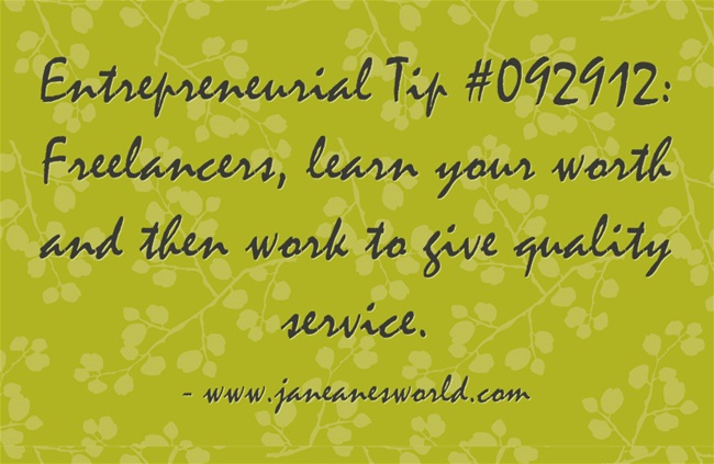 www.janeanesworld.com freelancer value