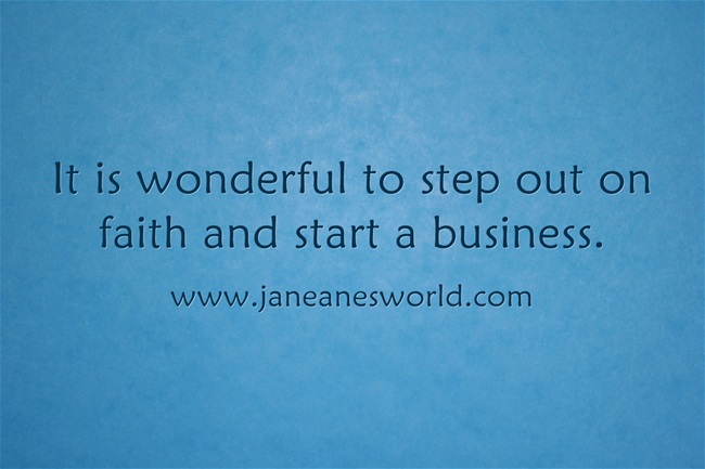 www.janeanesworld.com step out on faith