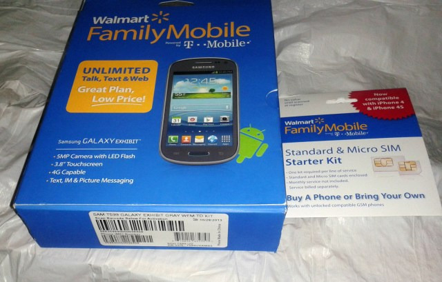 Samsung Galaxy Exhibit Walmart #shop