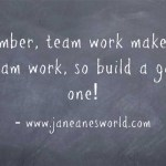 www.janeanesworld.com team work makes the dream work