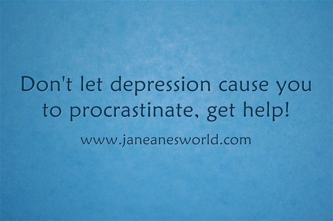 procrastination and depression www.janeanesworld.com