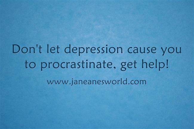 procrastination and depression www.janeanesworld.com