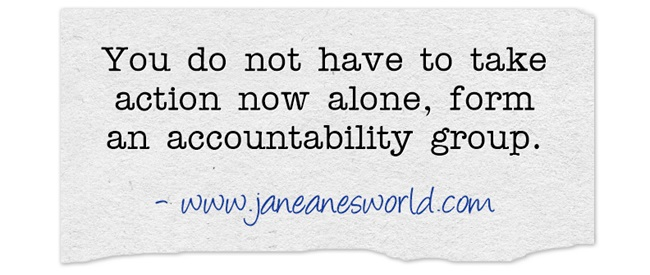 take action now with accountability group www.janeanesworld.com