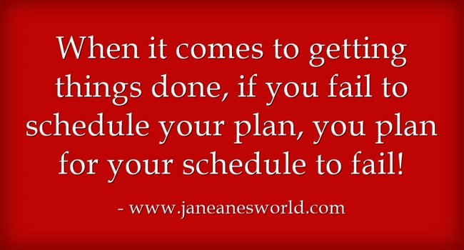 schedule your to do list www.janeanesworld.com
