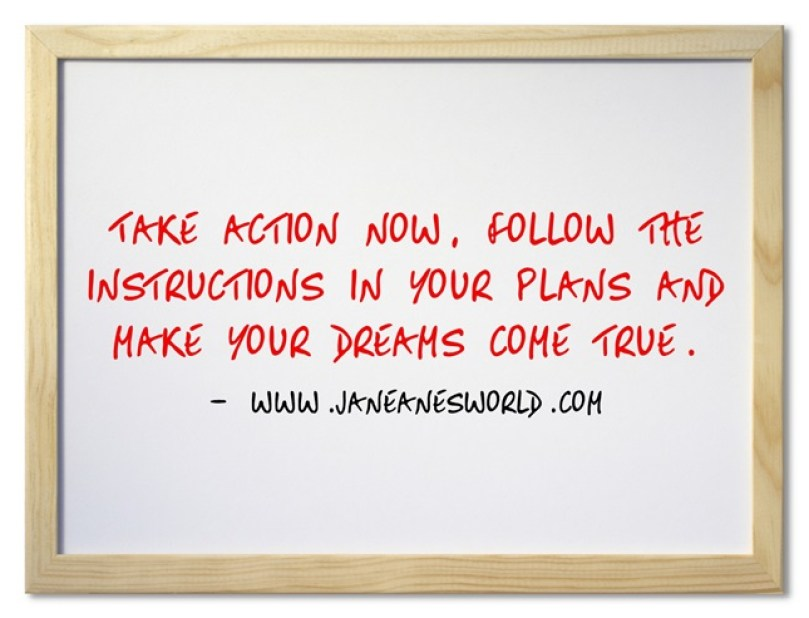 show your plans some appreciation, take action now