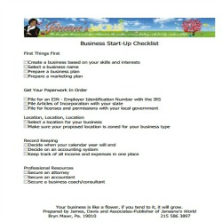 Bus Start Up Checklist 250 x 250