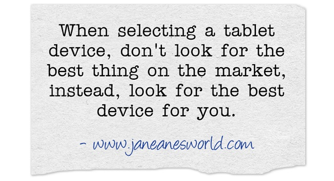 best tablet for you www.janeanesworld.com