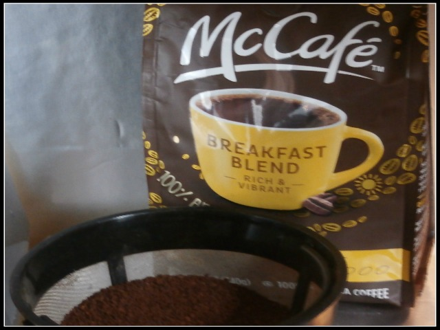 #McCafeMyWay coffee in a basket