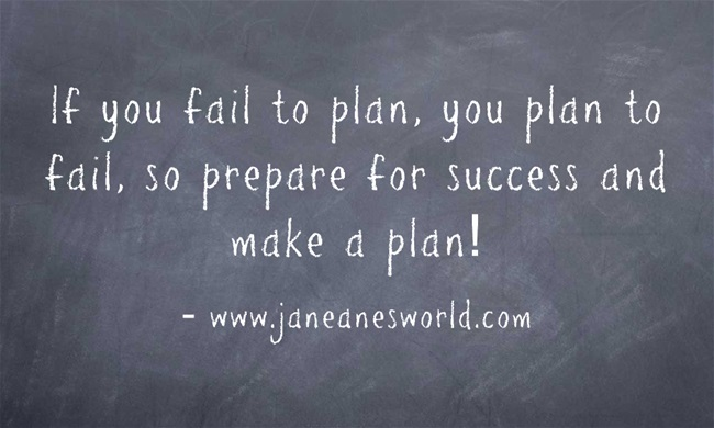 "You have heard people say it all your life, '''If you fail to plan, you plan to fail."" In addition, you know that you do a better job when you work with a plan rather than just winging it. So why aren't you creating a plan and working according to the plan."