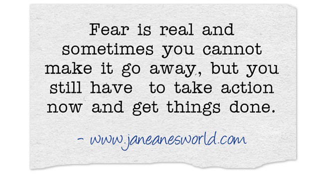 Once you understand that fear doesn't have to control you, you can <a href=
