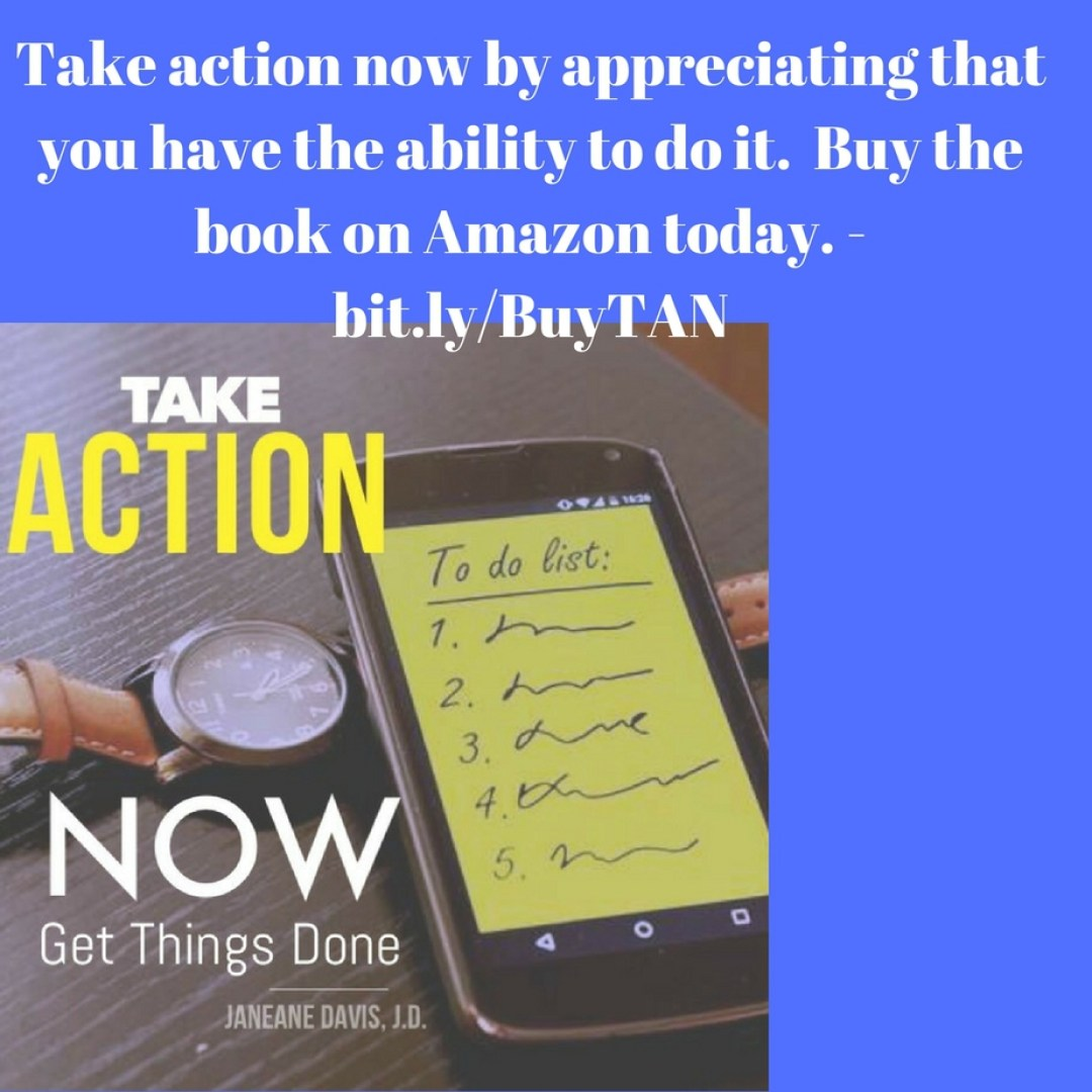 Take Action Now - read a book to learn how