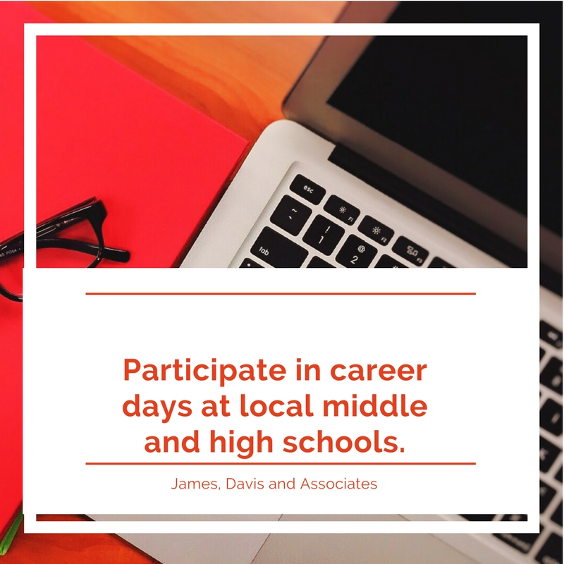 8. Participate in career days at local middle and high schools.