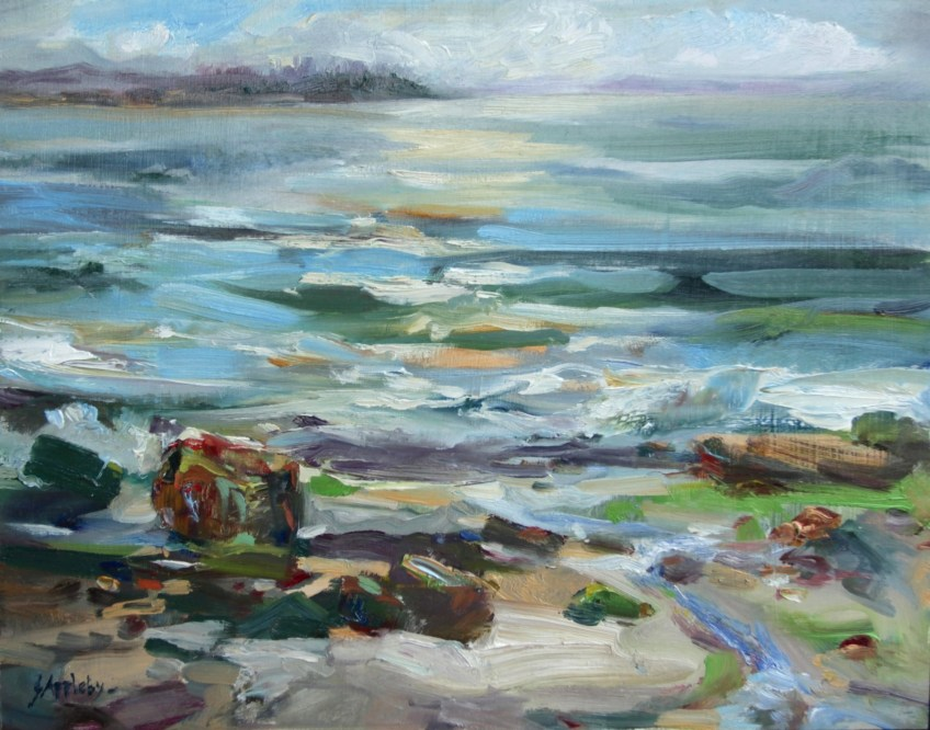 West Bay - West Van - Plein Air, 11 x 14, Oil on Board, Filmed