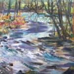 Bear Creek 16 x 20 Oil on Linen Board, Plein Air, Filmed 2017