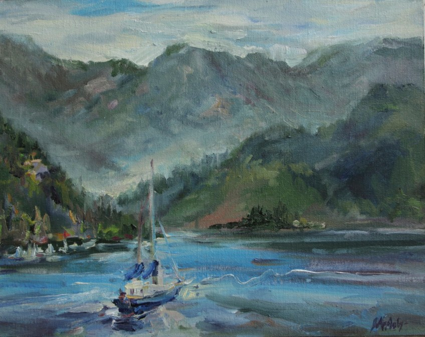 Deep Cove - Plein Air, 11x14, Oil on Board, Filmed