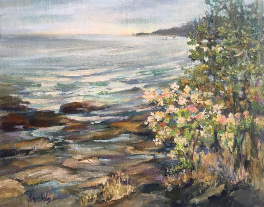 Island Afternoon, 11 x 14 Oil on Linen Panel, Jane Appleby, 2017