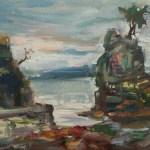 Siwash Rock - Stanley Park, 11 x 14 Oil on Canvas Board