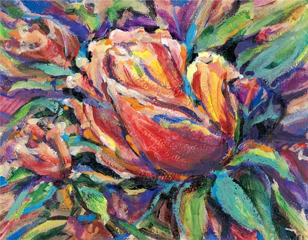 Rosebuds 12 x 16  Giclee Print on Paper $200
