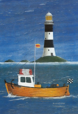 sailboat & lighthouse