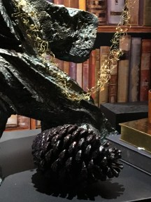 Black wax pine cone