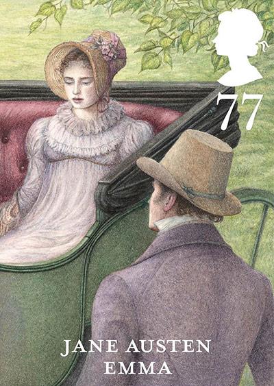 The Jane Austen Emma 77p stamp