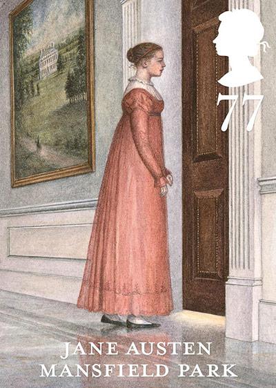 Jane Austen Mansfield Park 77p stamp