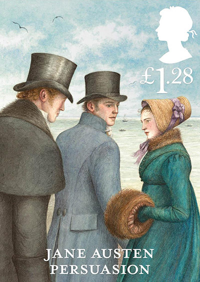 Jane Austen Persuasion £1.28 stamp