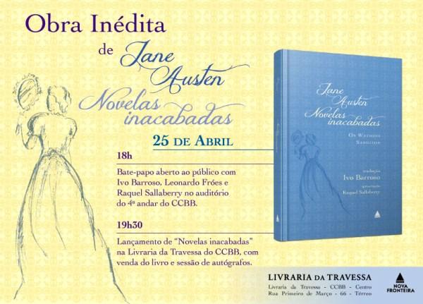 Convite Novelas Inacabadas de Jane Austen: Os Watsons e Sanditon