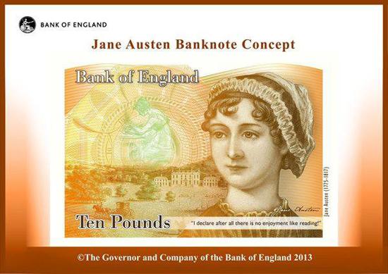 Jane Austen, 10 libras