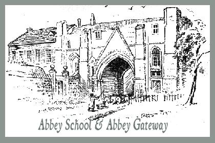 Abbey School & Abbey Gate - gravura