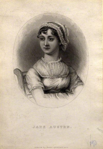 Gravura do frontispício da biografia A Memoir of Jane Austen, de James Edward Austen-Leigh, circa 1869-1870