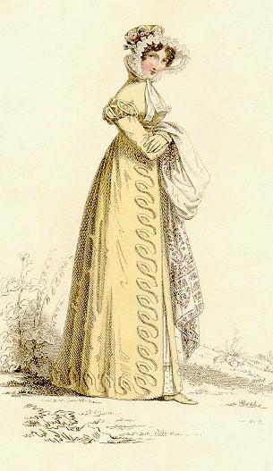 fashion plate yellow dress