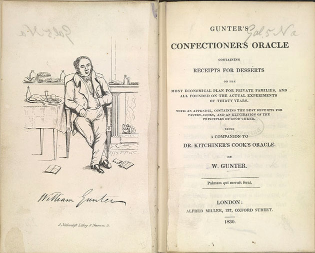 Gunter's Confectioner's Oracle, 1830