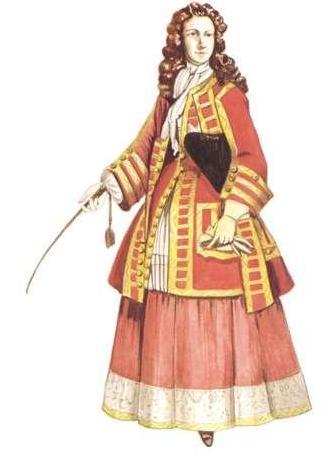 Lady in riding habit, 1720