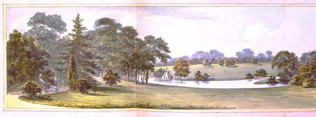Whiton, View from the Saloon After, Humphry Repton, 1796