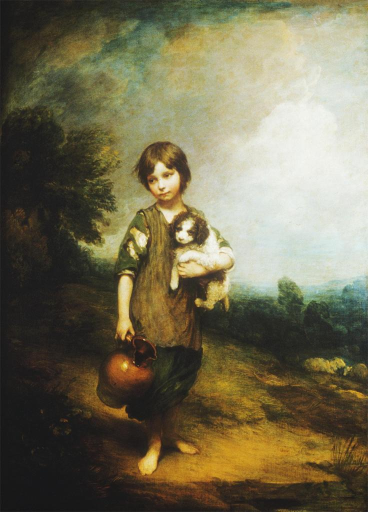 Cottage Girl with Dog and Pitcher, Gainsborough, 1785