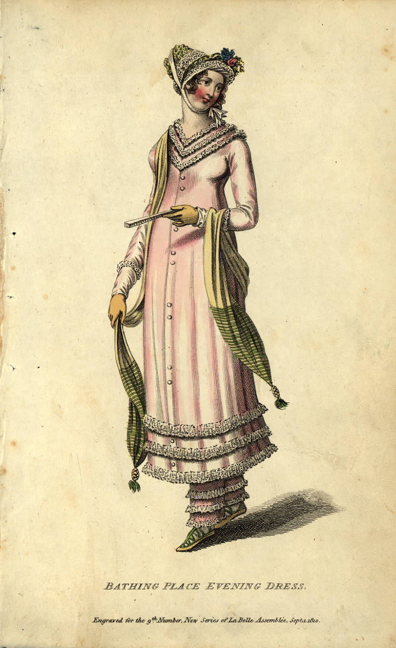 Bathing place evening dress, 1810