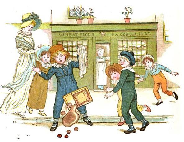 Little Anne illustration, Kate Greenaway