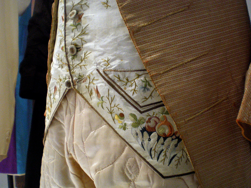 Man's suit with embroidered waistcoat